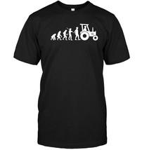 Evolution Farming Funny T shirt Farm Farmer Gift Agriculture - $17.99+