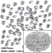 Large Perfect Cut Diamond Faceted Acrylic Rhinestones (1000 Pieces) Tabl... - $10.44