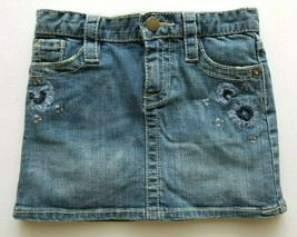 Gap Girls Denim Jeans Skirt Embroidered Adjustable Waist Size 5 years NWT - $17.99