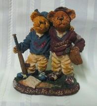 Boyds Bears Bearstones Great Game Little League Baseball Figurine 2001 - $8.95
