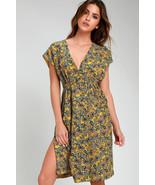 Beautiful Dreamer Yellow Paisley Drawstring Midi Dress - S Amazing Fit! - $35.00