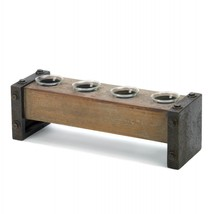 Medieval Wooden Tealight Candle Holder - $27.11