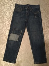 Old Navy jeans-Girls-Size 6 Reg.-blue-boyfriend skinny-patch-Great for s... - $11.79