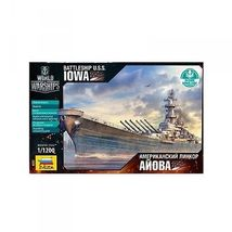 Model Kit Ship 1/1200 Battleship Iowa (9200) by ZVEZDA Boat Toys Set - $22.00