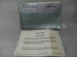 Buick Skylark 1981 Owners Manual 14717 - $17.77