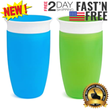 Munchkin Miracle 360 Sippy Cup, Green/Blue, 10 Ounce, 2 10 Green/Blue - $28.00
