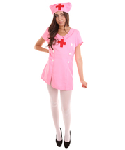 Adult Women's Nurse Costume   Pink Cosplay Costume HC-1517 - $20.85