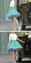 Women Girl Short Ruffle Layered Tulle Skirt Outfit Plus Size Tulle Holiday Skirt image 8