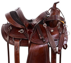 Premium Gaited 15 16 Western Pleasure Trail Endurance Horse Saddle Tack Set - $332.49