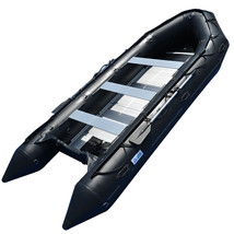 BRIS 15.4 ft Inflatable PVC Boat Inflatable Rescue Fishing Pontoon Boat Dinghy image 1
