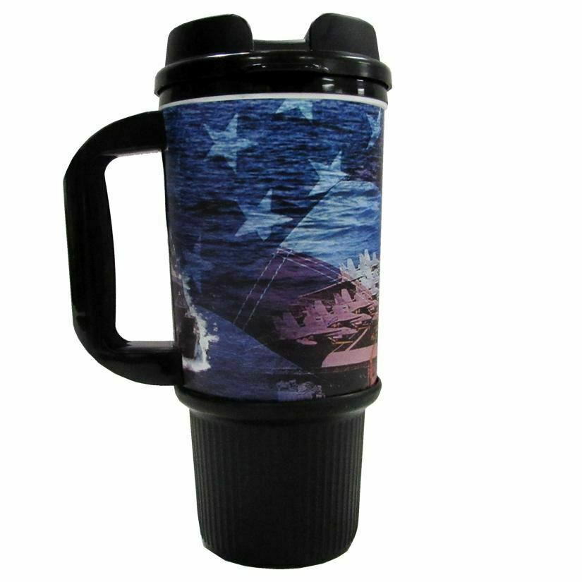 Navy 24 OZ Travel Mug image 2