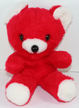 Vintage COMMONWEALTH RED AND WHITE VALENTINE TEDDY BEAR Stuffed Plush AN... - $83.15