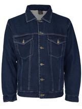 NYT Men's Classic Button Up Cotton Sherpa Trucker Denim Jean Jacket image 2