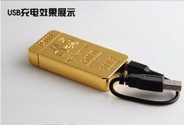 Gold Lion Creative Windproof USB Charging Pulse Arc Lighter - One Lighter w/box image 4