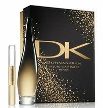 Donna Karan Liquid Cashmere Black 3.4 Oz Eau De Parfum Spray 2 Pcs Gift Set image 1
