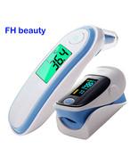 Fingertip Pulse Spo2 PR Oximeter & Body Medical Ear & forhead Infrared T... - $43.50