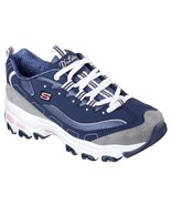 Skechers Dlites Navy Shoes Women's Sport Casual Comfort Memory Foam Spor... - $49.79