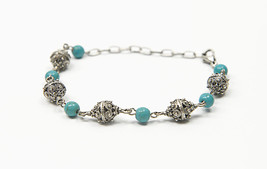 *NEW* Turquoise Šibenik Button Traditional Croatian Handmade Bracelet - $11.20
