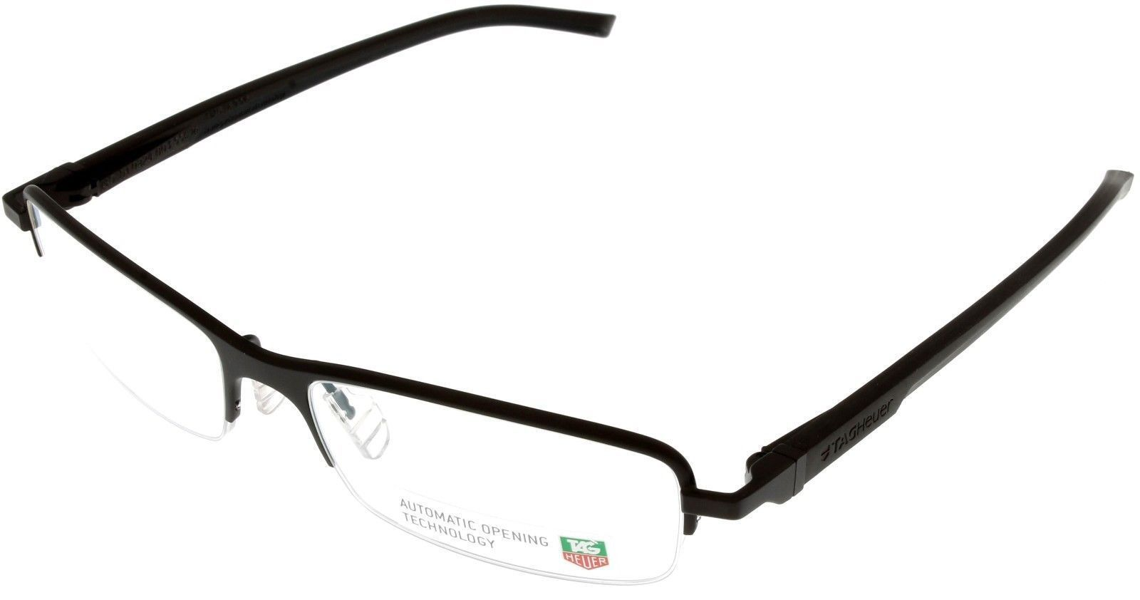 e85e95fcba1 Tag Heuer Eyeglasses Frame Unisex Chocolate Automatic Half Rimless TH0824  003 -  216.81