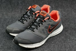 Nike Downshifter 6 Running Shoes Men's 12, Grey/Black/Orange Sneakers - $38.60