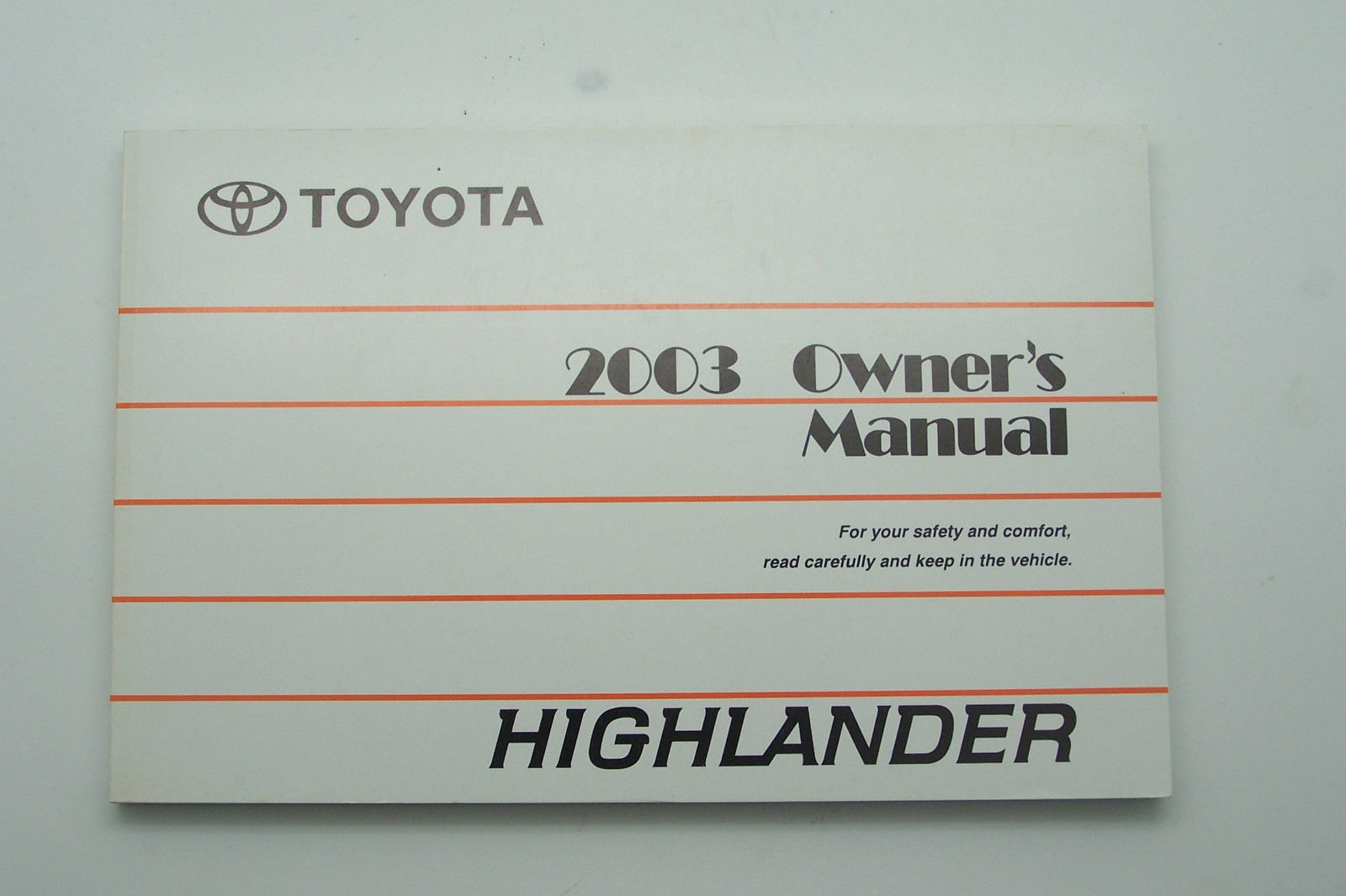 2003 Toyota Highlander Owners Manual Parts And 50 Similar Items