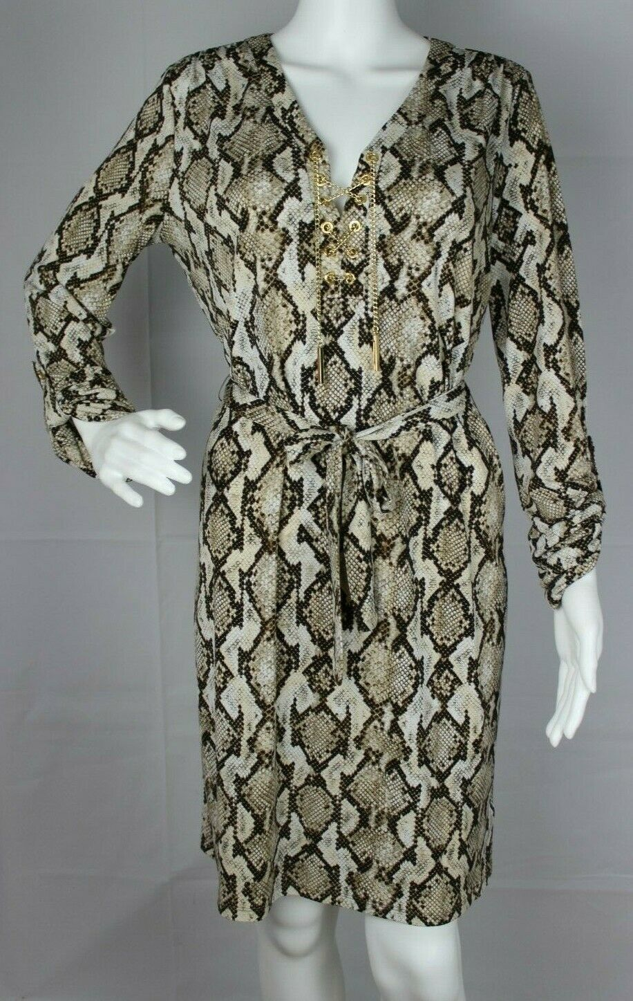 Primary image for Michael Kors women's dress animal print long sleeve size M