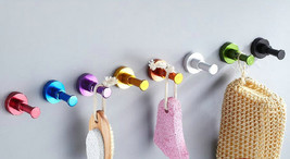 Hook Decorative Wall Hooks Coat Hangers Towel Hanger Colorful Red Yellow... - $3.95