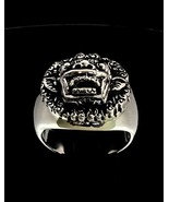 Sterling silver ring Barong Bali The King of Spirits Indonesia high poli... - $80.00