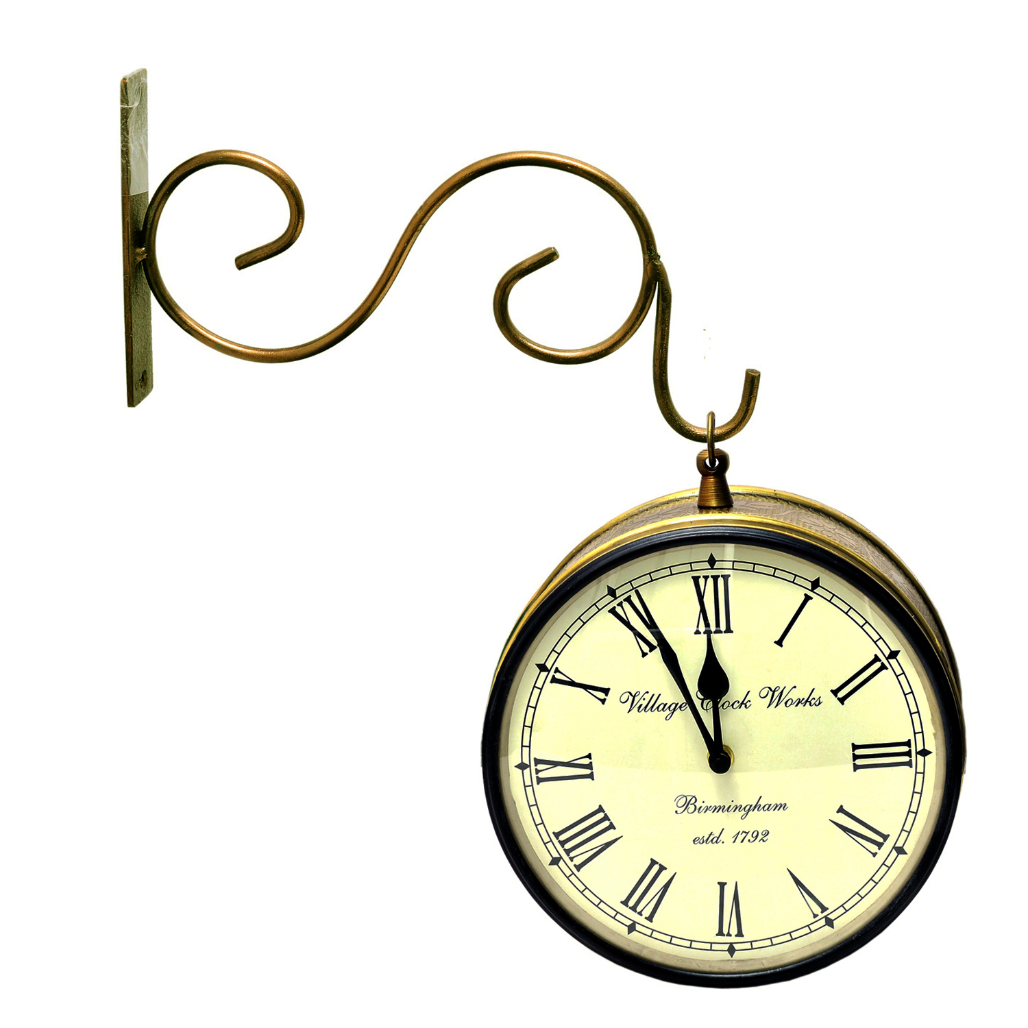 Vintage Clock Double Side (Railway Style) Clock 10 Inches