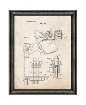 Dental Office System Patent Print Old Look with Black Wood Frame - $24.95+