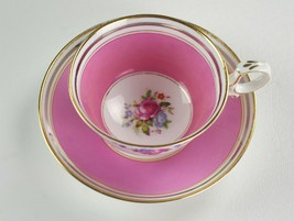 Paragon Pink w Cabbage Rose Floral Cup & Saucer Set, 1923 Star Mark Gold F397 #3 - $49.00