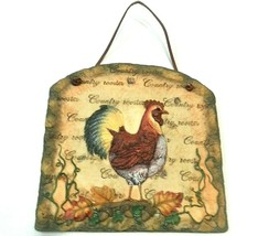 """Wall Plaque Rooster 11"""" Farmhouse Country Farm Ranch Home Decor - $29.60"""
