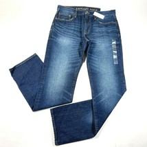 NEW American Eagle Jeans Mens 32x34 Blue Wash Original Straight Classic ... - $28.04
