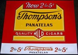 Thompson's Panatelas Embossed Inner Cigar Label... - $4.99