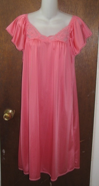 Primary image for Stunning Rose Pink/Orange Short Nightgown Size Small