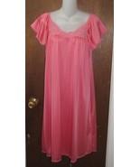 Stunning Rose Pink/Orange Short Nightgown Size Small - $12.99