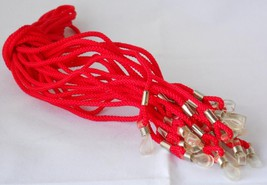 12 red Sunglass Neck Cord Strap Chain Holders - $11.95