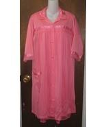 Stunning Rose Pink/Orange Short Nylon Robe Sz Medium - $12.99