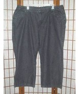Mainstreet Blues black denim jeans plus size 30WP 30 Women's - $5.00