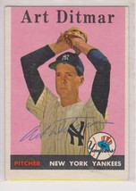 Art Ditmar Signed Autographed 1958 Topps Baseball Card - New York Yankees - $19.99