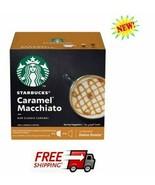 STARBUCKS CARAMEL MACCHIATO BY NESCAFÉ DOLCE GUSTO COFFEE CAPSULES 6+6 - $16.80