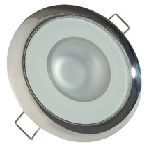 Lumitec Mirage - Flush Mount Down Light - Glass Finish/Polished SS - 4-Color Red - $98.00