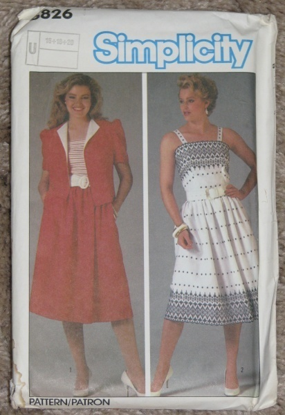 Primary image for Simplicity 6826 Misses Sundress & Jacket Size 16-18-20