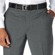 NWT Kirkland Signature Men's Wool Flat Front Dress Pants Slacks GRAY image 3