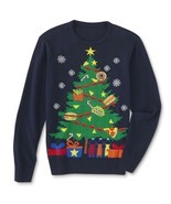 Route 66 Mens Ugly Christmas Tree Party Holiday Sweater XL Navy Blue - $17.95