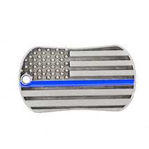 Police Officer Dog Tag, Antique Finish, plus 2 prayer cards and a magnet - $12.95
