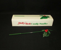 Dept 56 Holly Bell Candle Snuffer Metal With Original Box #6477-7 - $12.86