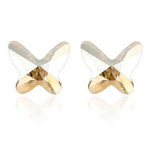 Butterfly Brincos 2018 Crystal From Swarovski Small Stud Earrings For Wo... - $9.08