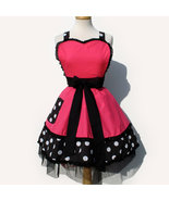 Pink and Polka Dots Rockabilly Apron - $45.00