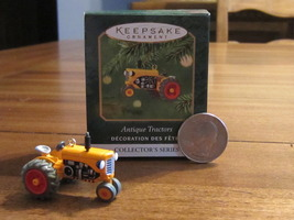 #5 Miniature Series ANTIQUE TRACTORS Die-cast Yellow Ornament Hallmark K... - $12.99